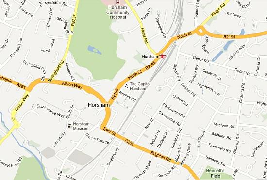 Map for Horsham